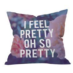 Leah Flores So Pretty Throw Pillow
