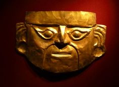 A Gold Inca Mask