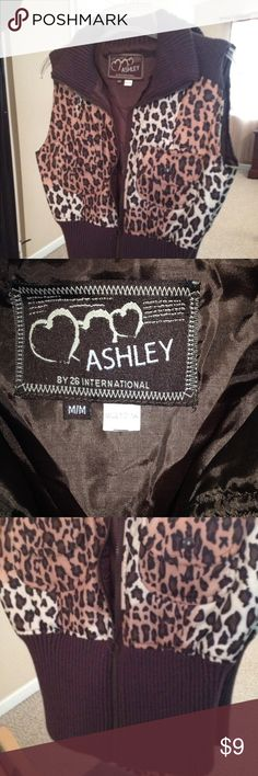 Ashley leopard vest Ashley leopard vest size medium cute with a solid tee only worn a few times Ashley Stewart Other
