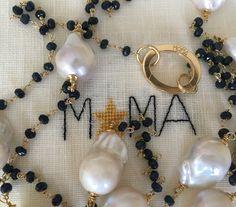 Perle barocche e zaffiri