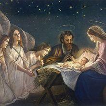 Fototapete - Joseph and Mary