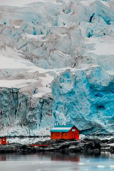 Glacier mountain retreat, Antarctica