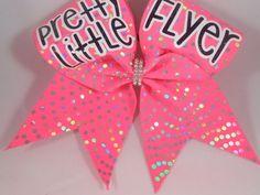 Cheer Bow Pretty Little Backspot Pink Silver by Blingitoncheerbowz | eBay