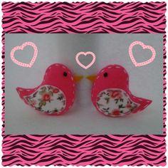 Passarinhos pink (feltro)