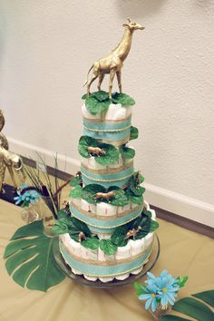 Safari Baby Shower Cake, Baby Shower Giraffe, Elephant Baby Showers, Animal Theme Baby Shower, Baby Shower Themes, Baby Shower Decorations, Baby Shower Gifts, Shower Ideas, Lion King Baby Shower