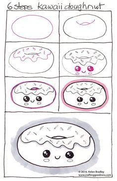 Comment dessiner : Donut kawaii
