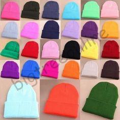 cbaae68b487b76 Pro Men's Women Beanie Knit Ski Cap Unisex Hip-Hop Blank Winter Warm Wool  Hats