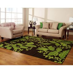 I really like this purple and lime green rug fir the front door ...