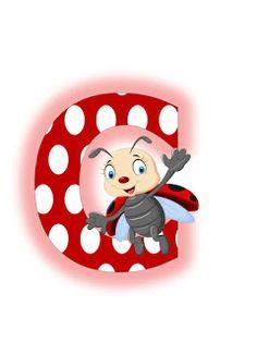 O alta varianta a literelor cu buburuze  Sper sa va bucurati de ele!                                                                       ... Ladybug Picnic, Alfabeto Animal, Illustrations And Posters, Smurfs, Initials, Hello Kitty, Lettering, Children, Alphabet Letters