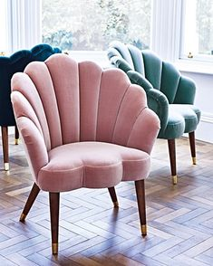 Declutter And Style And Design For Put Up-Spring Crack Homeschool Good Results Flora Scalloped Dusty Pink Velvet Armchair - Sofa Design, Furniture Design, Pink Furniture, Velvet Furniture, Plywood Furniture, Living Room Chairs, Living Room Decor, Bedroom Decor, Lounge Chairs