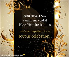 Beautiful New Year party invitation card.