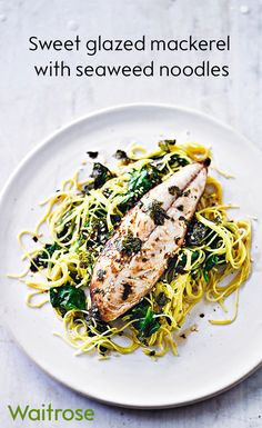 Ready in only 15 minutes, our honey-glazed mackerel may be a quick dish but it certainly doesn't compromise on taste. Serve with seaweed noodles and a sprinkle of sesame seeds to finish. Get the recipe on the Waitrose website. Fun Easy Recipes, Fish Recipes, Healthy Recipes, Mackeral Recipes, Superfood, Sweet And Sour Recipes, Waitrose Food, Endive Recipes, Jucing Recipes