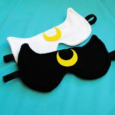 Cute idea to make simple artemis or Luna mask for the party! Luna or Artemis Sailor Moon Inspired Sleepmask - Black White Cat Sleep Mask. $10.00, via Etsy.