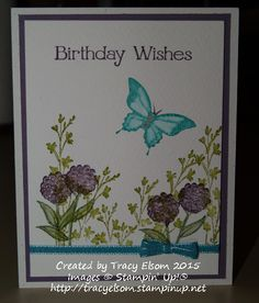 Nature's Perfection stamp set on watercolor Paper. http://tracyelsom.stampinup.net