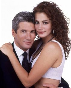 """Richard Gere and Julia Roberts by on DeviantArt - Richard Gere and Julia Roberts (""""Pretty Woman"""", Source by filmfreakprint - Richard Gere Julia Roberts, Roy Orbison, Pretty Woman Film, Robert Ri'chard, Veuve, Cindy Crawford, Love Movie, Classic Movies, Hollywood Stars"""