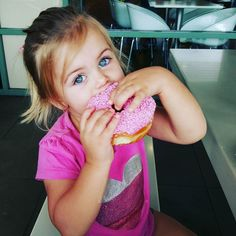 31. Half. This donut is half the size of her head! . #OnlyTheIcingWasEaten #Donut #Yum #Food #FoodPorn #FoodLover #FoodGram #FoodPic #Eat #Eating #InstaFood #InstagramFood #NotHealthy #NotHealthFood #Sugar #Pink #BlueEyes #CuteKids #mummyblogger #mommyblogger #NewcastleBlogger  #fmsphotoaday #fms_half by allmumsaid