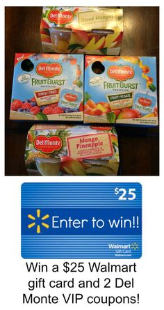 Win a $25 Walmart gift card and 2 Del Monte VIP coupons! #giveaway