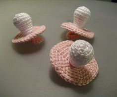 Baby Shower Favor Crocheted Pacifier Di IrynaHudyma Su Etsy