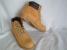 Men's Brahma Hubert Wheat Leather Waterproof Work or Casual Boots SZ 10 #BRAHMA #WorkSafety