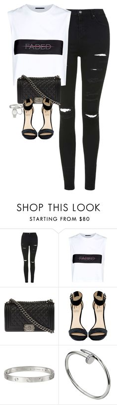 """""""Untitled #1192"""" by lovetaytay ❤ liked on Polyvore featuring Topshop, Alexander Wang, Chanel, Rihanna For River Island and Marc Jacobs"""