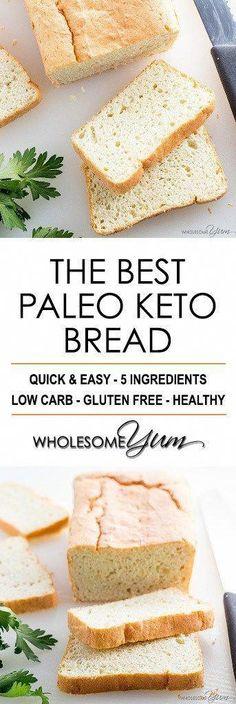 Keto Bread Recipe With Oat Fiber #BestKetoBread Easy Keto Bread Recipe, Best Keto Bread, Lowest Carb Bread Recipe, Easy Bread Recipes, Low Carb Bread, Low Carb Recipes, Healthy Recipes, Paleo Bread, Bread Baking