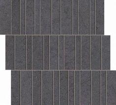 "#Interceramic - Advance Nero Basalto 11 3/8"" x 11 7/8""  Pillar Mosaic"