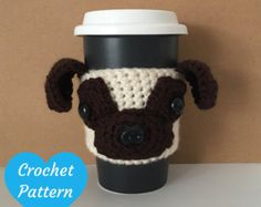 Crochet pug dog pattern pdf miniature animal crochet by Lybo