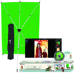 Green screen for guests to take photos in front of ... (Illusions Erin Manning Creation Kit by Westcott Green screen software includes 300 digital backgrounds or use your own. $149.90)