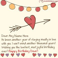 Magical Love Birthday Wishes With Name Maker Photo On Best Online Generator And Send Printable Happy Cards Editing Options