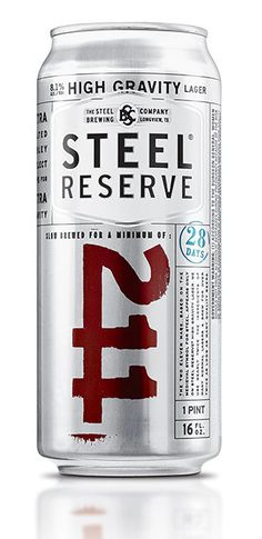 Steel Reserve Beer designed by Turner Duckworth | The Steel Brewing Company (TX)