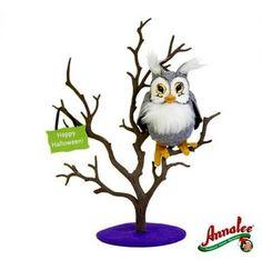 "2012 Annalee Dolls *8"" Spooky Owl* in a Spooky Tree by Annalee."