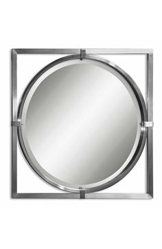 Uttermost 'Kagami' Brushed Nickel Mirror available at #Nordstrom