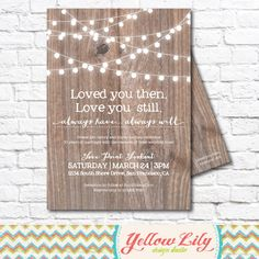 Vow Renewal Invitation Wood / Vow Renewal / by YellowLilyDesigns