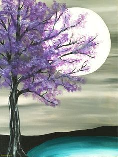 Fantastic Simple Painting Ideas for Beginners . Fantastic Simple Painting Ideas for Beginners . Step by Step Pink Flowering Tree Painting with Pretty Teal Easy Canvas Painting, Simple Acrylic Paintings, Easy Paintings, Diy Painting, Painting & Drawing, Watercolor Paintings, Canvas Art, Canvas Ideas, Diy Canvas
