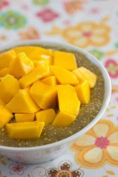 Chia aux Fruits Tropicaux | Découvrez des recettes simple et délicieuses sans gluten et produits laitiers pour tous les jours.