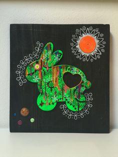 Fluo - Tavola Lapin verde L. 28 x h. 30 cm.