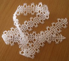 Tatted lace trim.