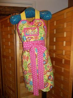 Paisleys and Pink apron made by Fried Green Aprons