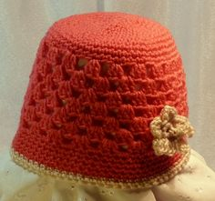 Pink & cream cloche hat by The Crochety Rabbit