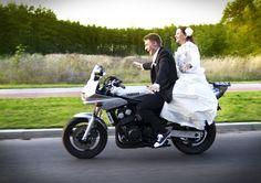Wedding on a motobike.  www.sekma.pl