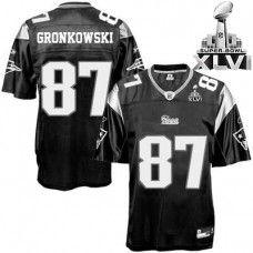 Patriots  87 Rob Gronkowski Black Shadow Super Bowl XLVI Stitched NFL  Jersey Jersey Patriots c87d9be5c