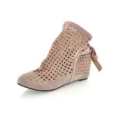 Women Ladies Laser Die Cut Holes Flat Shoes Sandals  e9186e17dff