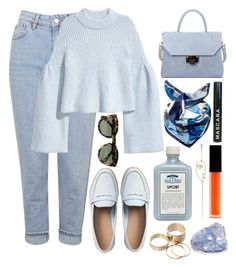 """🐋"" by burcaak ❤ liked on Polyvore featuring Gap, Topshop, H&M, Laura Biagiotti, Väska, Le Métier de Beauté, John Allan's, Call it SPRING, CÉLINE and Sarah & Sebastian"