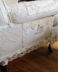 Lace covered chair by Desertwind