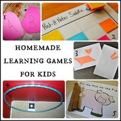 a round up of homemade learning games from Fun A Day