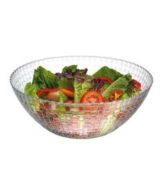 Another great find on #zulily! 10.25'' Glass Salad Bowl by Home Essentials and Beyond #zulilyfinds