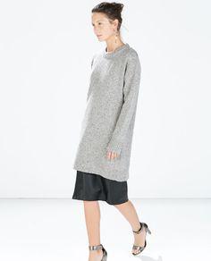 ZARA - WOMAN - TWEED DRESS WITH CUFF SLIT