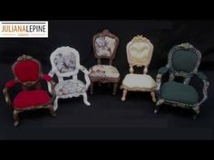 DIY- Miniature Chairs Tutorial- Cold Porcelain - YouTube