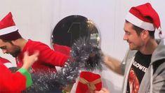 Dan Smith of Bastille ft Christmas decorating