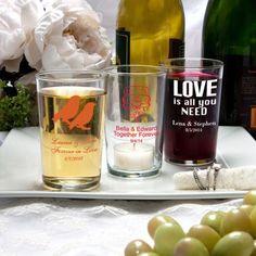 Silkscreened Glassware Collection Bistro glasses